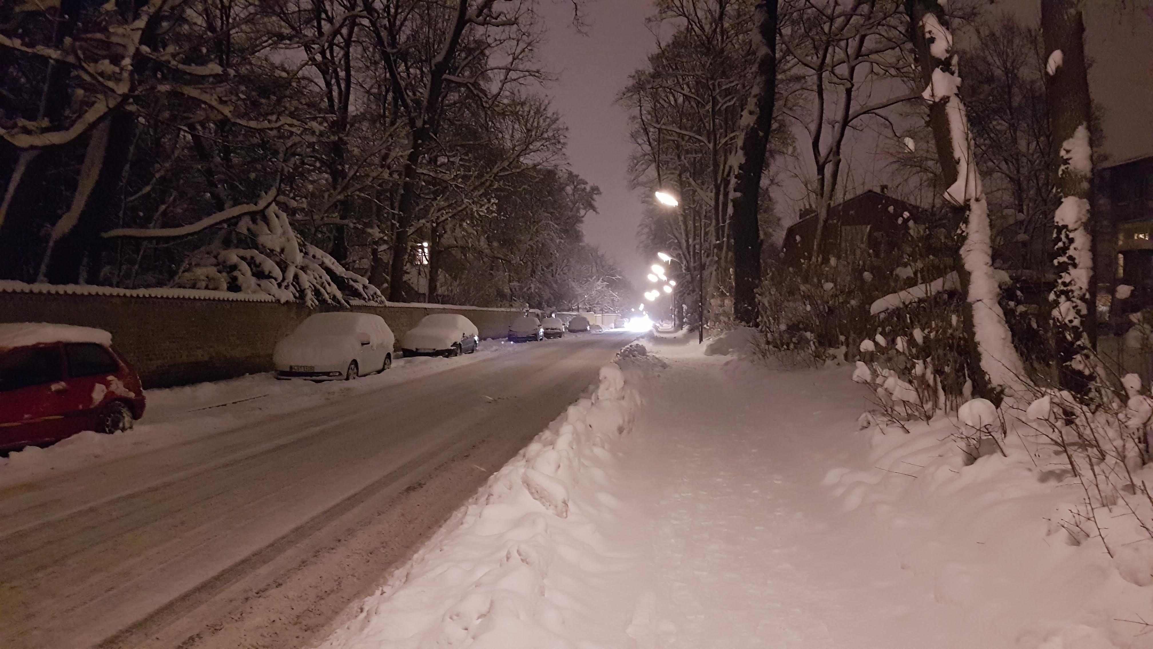 Biedersteiner Straße im Winter