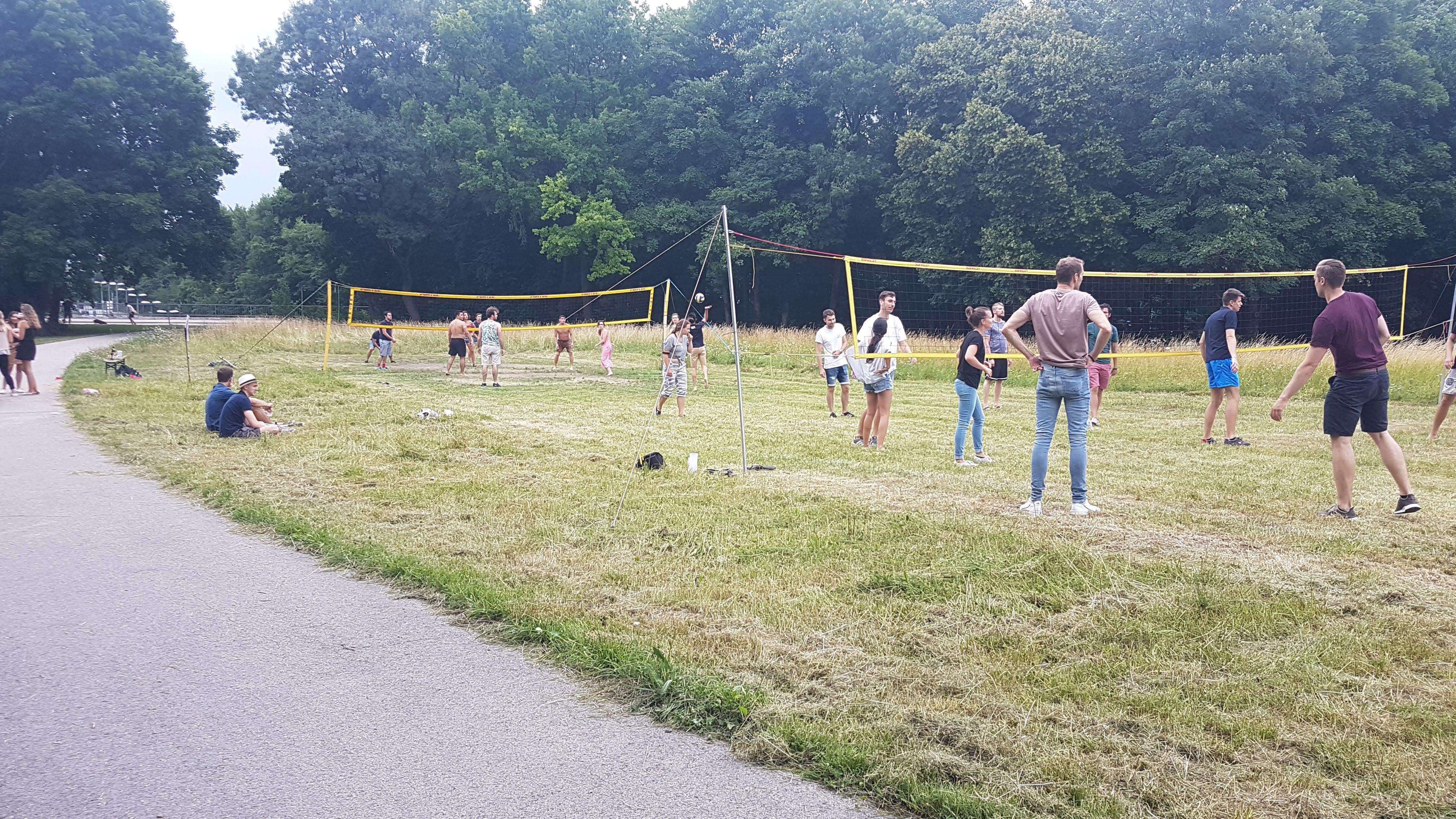 Volleyballturnier im Garten